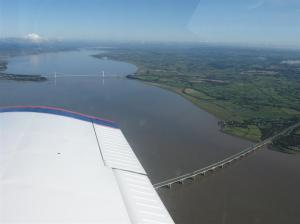 Circling over the Severn Bridges
