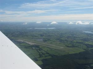 Approaching Bristol Airport