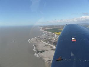 Heading out over the Severn Estuary