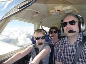 Flying Family Selfie!